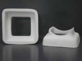 Rauchrohranschlussstück aus Mineralwolle eckig/eckig 18x18