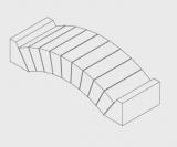 Flachgewölbe aus Halbwölber 15% R45