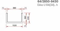 Kamineinsatz Schmid Ekko U 84(34)45 h