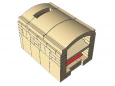 Brotbackofen Bausatz Gewölbeplatten