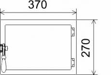 Ofentüre Guss schwarz glatt 370x270mm