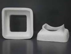 Rauchrohranschlussstück aus Mineralwolle eckig/eckig 15x15