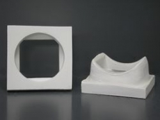 Rauchrohranschlussstück aus Mineralwolle rund/eckig DM13