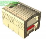Brotbackofen Bausatz mit Gewölbesteine