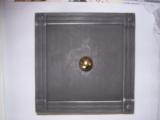 Kachelofen Putztüre mit Rahmen und Dichtung ca.  15x15 in Schmide einfach schwarz